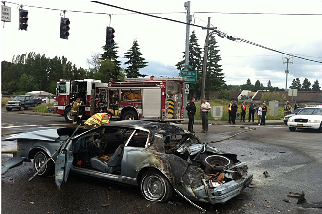 Local soldier, two deputies pull two from burning car