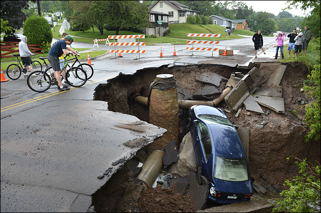 Duluth&#39;s deluge doubles Eugene&#39;s duckiest downpours