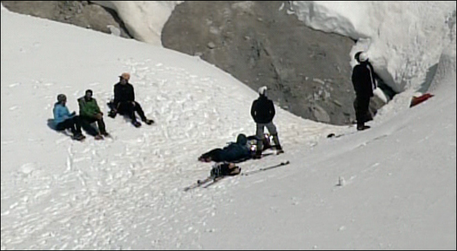 Climber slips and slides down icy face on Mount Hood