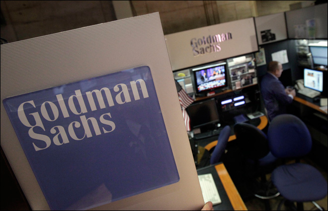 Woman says N.Y. Fed fired her over Goldman Sachs