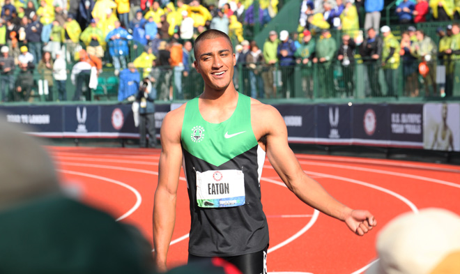 TrackTown12: Eaton sets Decathlon World Record