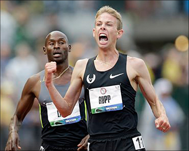 Rupp breaks Pre&#39;s record with 5000m win