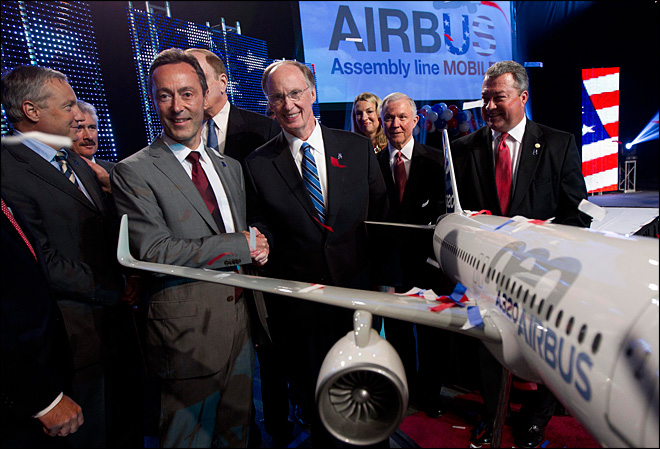 Airbus to open first assembly plant in U.S.
