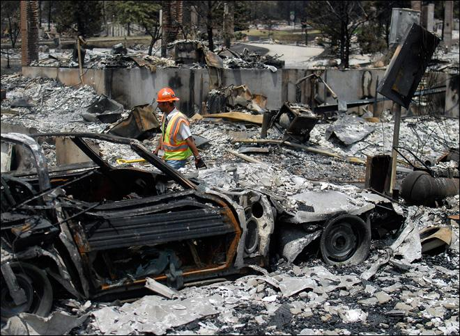 'Unreal': Residents tour Colo. blaze devastation