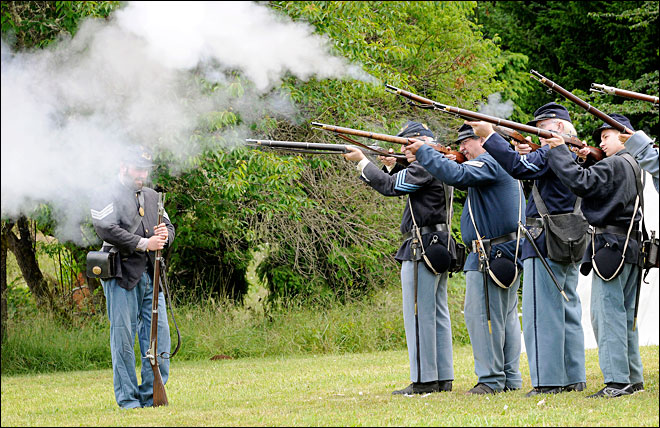 Civil War reenactors take aim at history