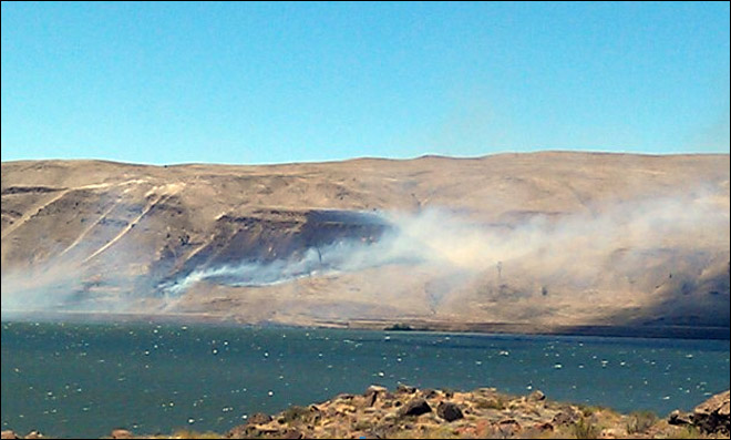 Crews knock down wildfire near Goldendale, Wash.