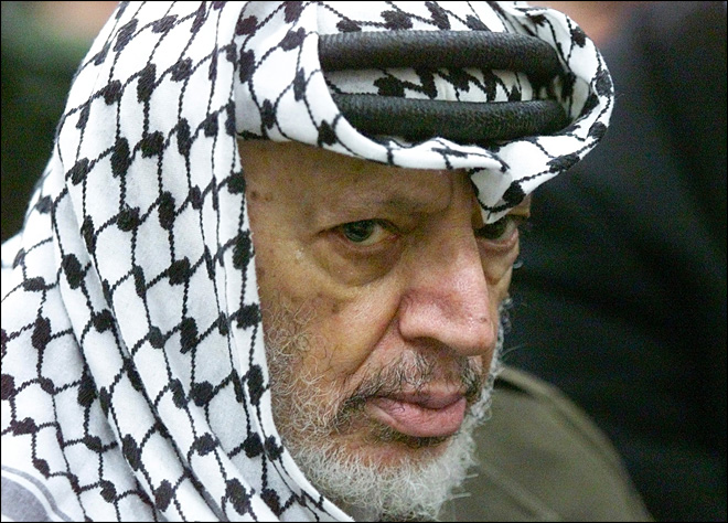Experts exhume remains of Palestinian leader