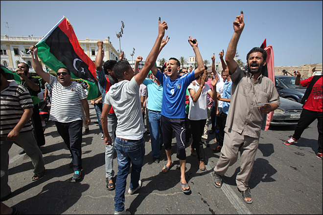 Libyans hold 1st nationwide vote in decades