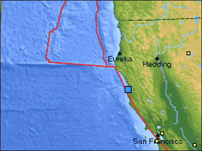 4.3 quake rattles far Northern California coast