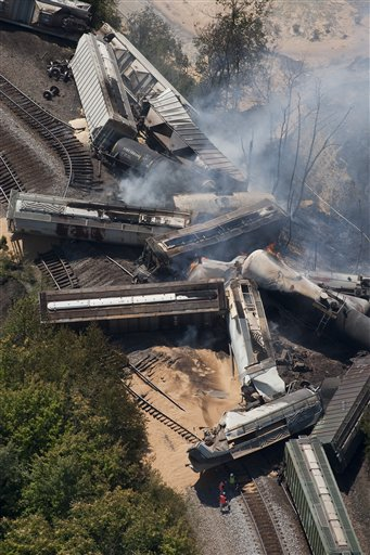 Train Derailment Fire