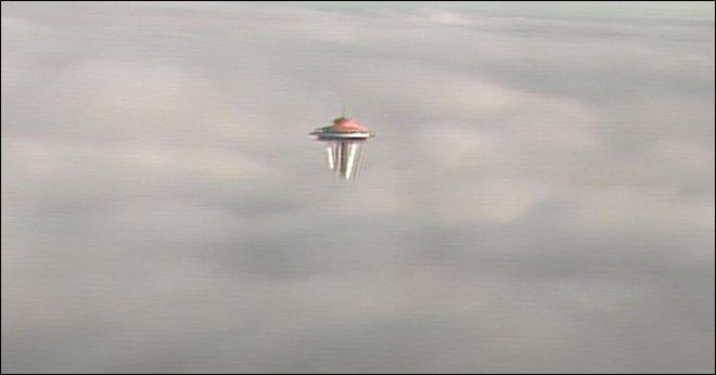 Seattle awakes to a Needle in a fog bank