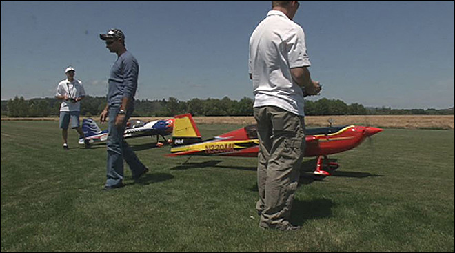 Radio controlled planes take to the skies