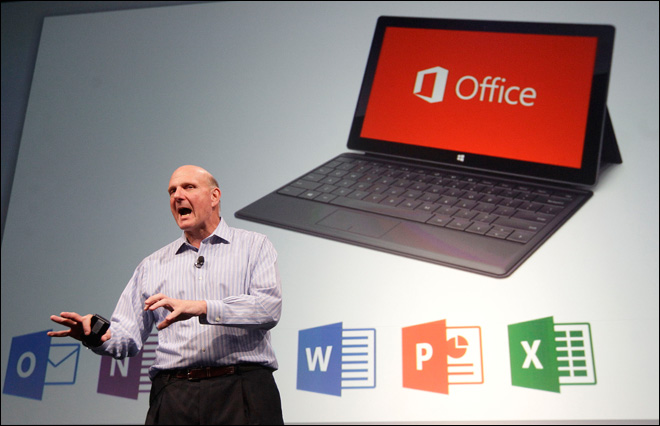 Microsoft unveils Office for tablets with cloud storage