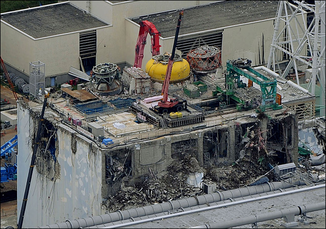 2 fuel rods removed from wrecked Fukushima nuclear plant