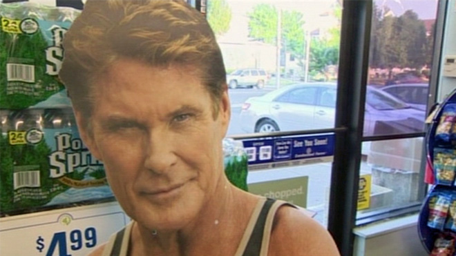 Giant Hasselhoff ads too tempting for thieves