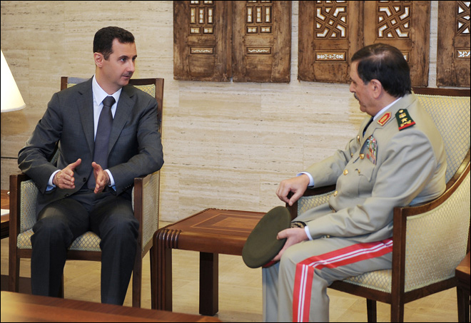 Syria&#39;s Assad appears on TV after bombing