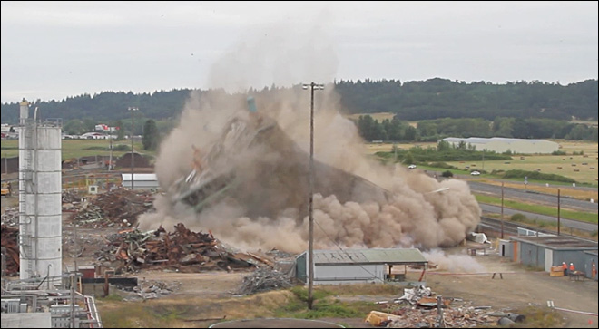 VIDEO: Albany paper mill implosion