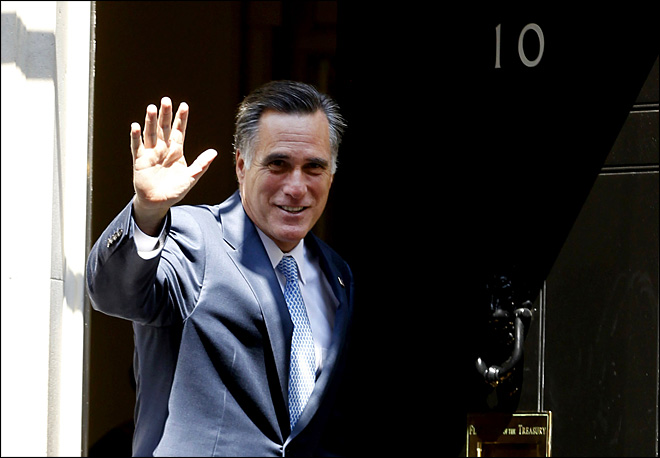 Romney goes to Europe, causes international stir