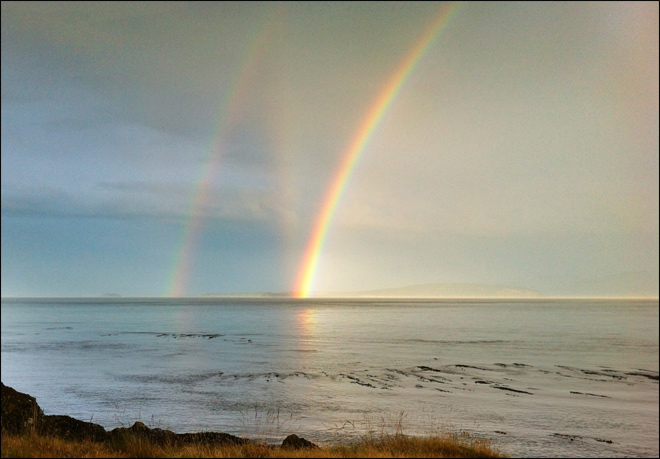 Triple rainbow?! 'Can you explain it at all?'