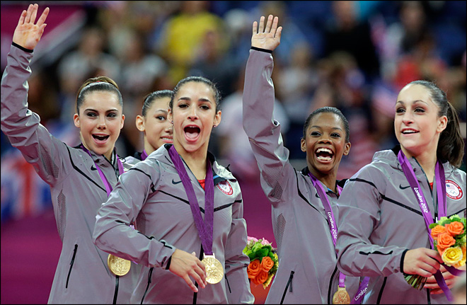 U.S. women's gymnastics team wins first gold since '96