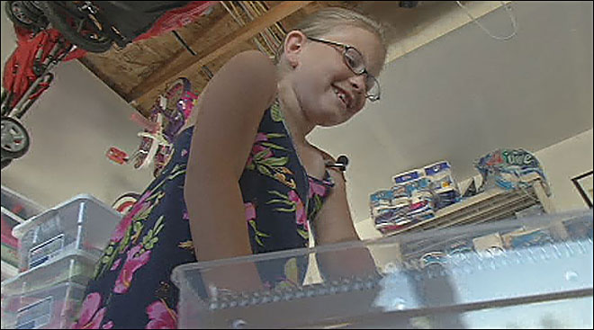 Veneta girl makes care packages for underprivileged kids
