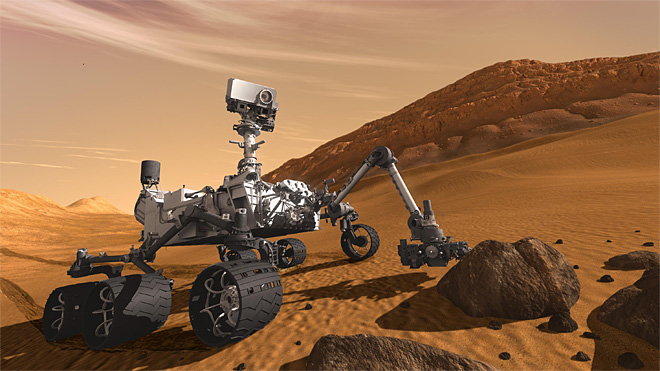"Mars rover makes descent Sunday night: ""We're all along for the ride"""