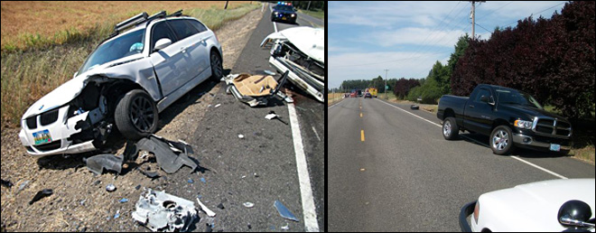 Serious injury crash on Highway 20 east of Albany