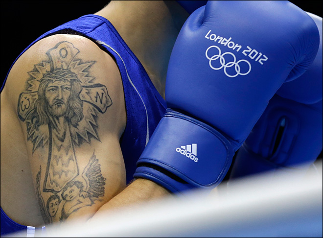 Photos: Olympic athletes sport tattoos in London