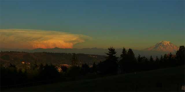 Central Washington Thunderstorm Clouds