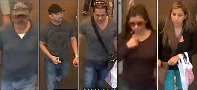Suspects sought in credit card caper
