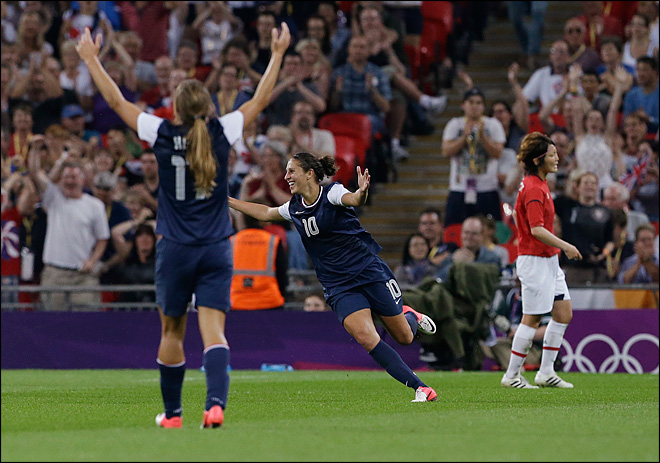 U.S. women's soccer team take Olympic gold