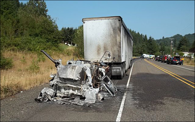 Police: Eugene man killed in fiery head-on crash