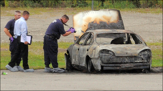 3 found dead in burning car in Maine parking lot