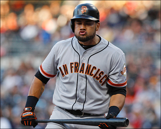 Giants OF Cabrera suspended for positive drug test