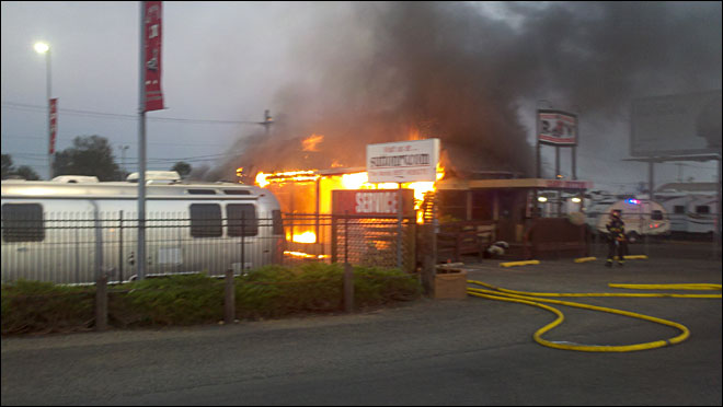 Fire at George M Sutton RV