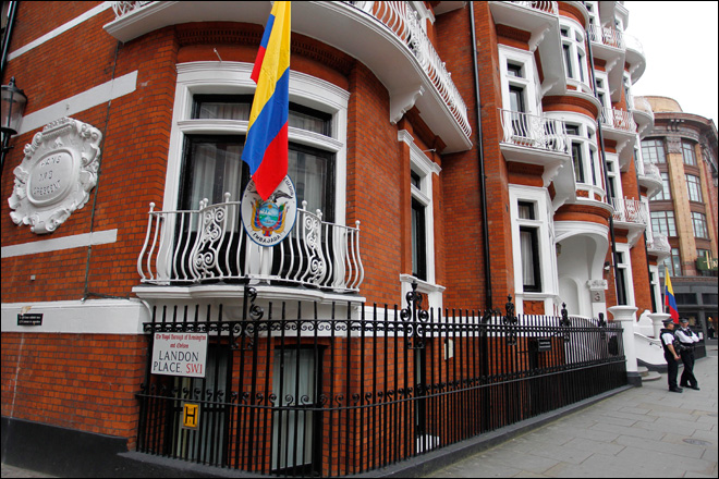Ecuador says Britain threatened embassy assault to arrest Assange