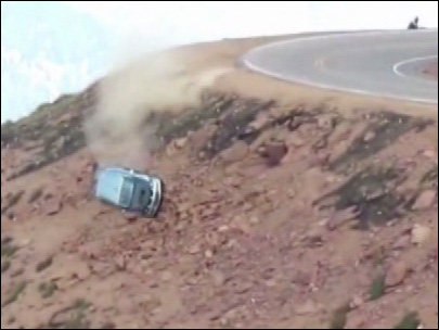 Watch: 2 survive incredible crash down mountainside