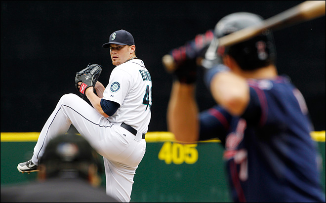 Saunders homers, M&#39;s beat Twins 5-1 for sweep