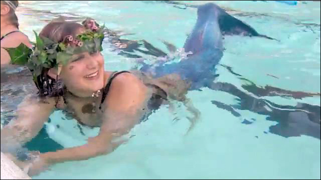 Avast! There be mermaids at Portland pool