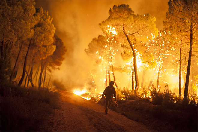 APTOPIX Spain Wildfire