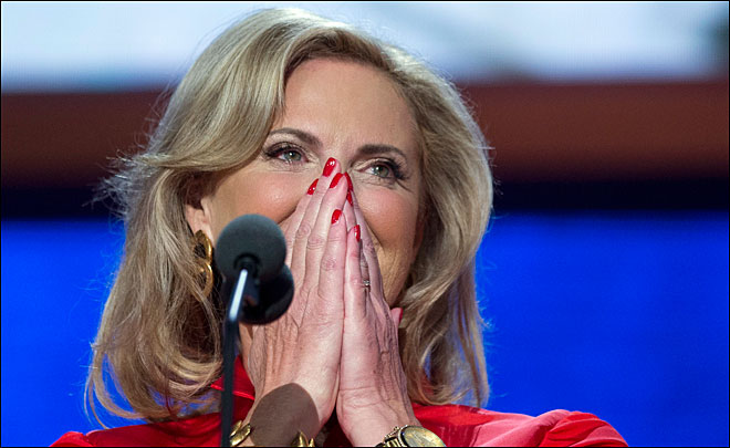 Romney nominated; wife Ann convention star speaker
