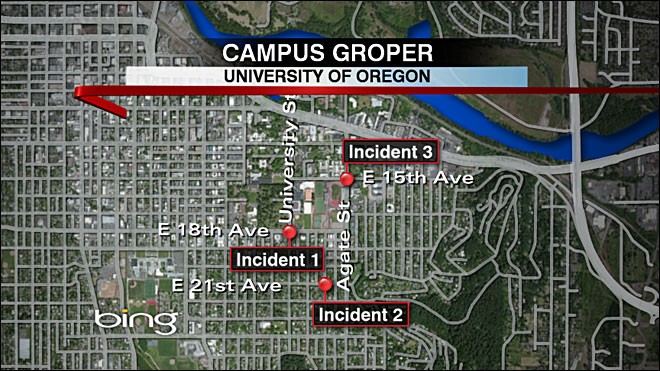 Man fondled women, exposed genitals near UO campus