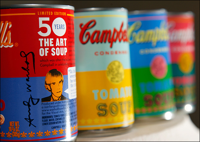 Campbell channels Andy Warhol for new cans