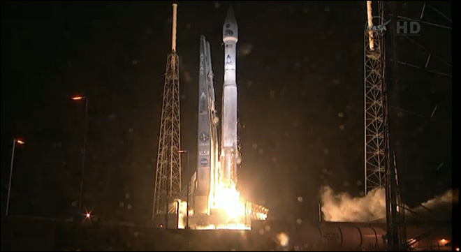 NASA launches twin satellites to radiation belts