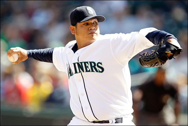 M's Hernandez loses for 1st time since June 12