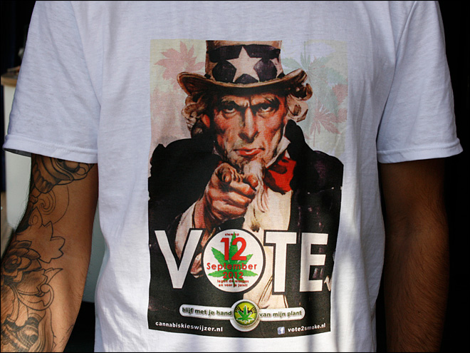 Stoner voters targeted in Dutch election campaign