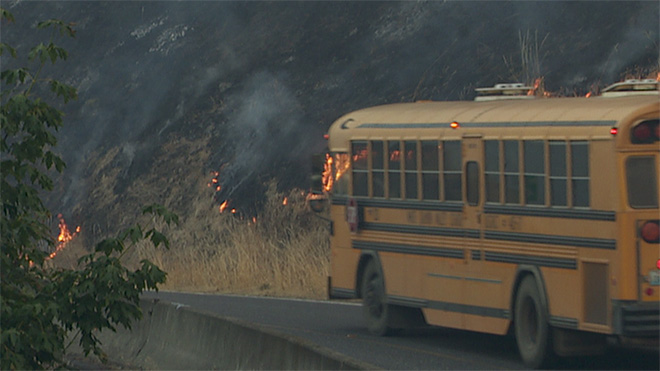 Highway 141 Fire - Friday Morning
