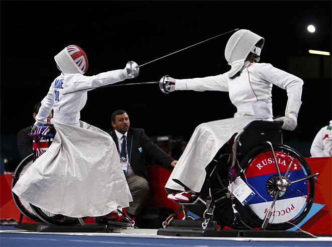 APTOPIX London Paralympics Fencing