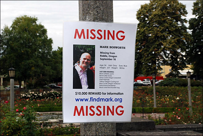 Mark Bosworth missing poster