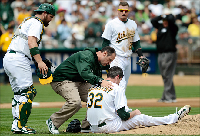 A's Brandon McCarthy released from hospital